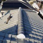 雨漏り対策修理工事(棟積み直し工事)ビフォーアフター(明石市)