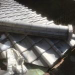 台風災害箇所(破損丸瓦差し替え)補修工事(神戸市)