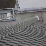 雨漏り対策修理工事(和瓦棟積み直し及びラバーロック工法)(加古川市)
