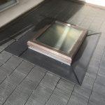 雨漏り箇所、天窓回り板金工事(神戸市)