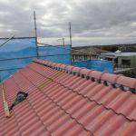 台風災害復旧工事(棟瓦積み直し及び、袖瓦コーキング補強工事)(神戸市)