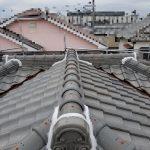 雨漏り修理工事(和瓦の棟積み直し)(明石市)