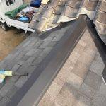屋根雨漏り箇所部分葺き替え工事(和瓦~リッジウエイへ)(加古川市)