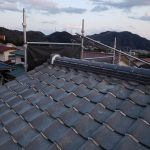 和瓦の棟積み替え工事(神戸市)