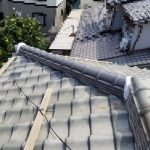 大屋根雨漏り箇所隅棟積み替え工事(加古川市)