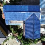 屋根一部葺き替え工事(和瓦~和瓦【青緑】へ)(明石市)