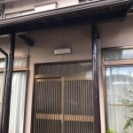 玄関柱塗装・外壁左官補修工事(明石市)
