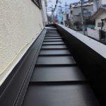 下屋根瓦棒カバー工法工事(明石市)