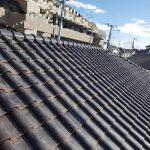 屋根メンテナンス工事(丸瓦積み直し)(神戸市)