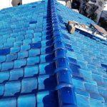雨漏り屋根メンテナンス工事(本棟積み替え・瓦差替え・縦ラバーロック)(明石市)