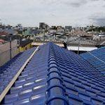 屋根葺き替え工事(和瓦から和瓦【青緑】へ)(神戸市)