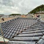 大屋根雨漏り部分葺き替え工事(釉薬S瓦)(神戸市)